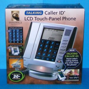Innovage talking caller ID LCD touch-panel phone.