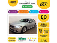 Silver BMW 520d M Sport Auto Diesel 190bhp Nav Leather FROM £93 PER WEEK!