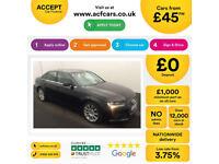 Black AUDI A4 SALOON 1.6 1.8 2.0 TDI Diesel SPORTS LINE FROM £45 PER WEEK!