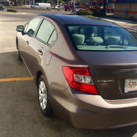CIVIC LX 2012 NO ACCIDENT ONE OWNER BLUETOOTH CERTIFIED ONLY 63K