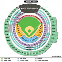 2 TICKETS(SEC521 ROW10)TORONTO BLUE JAYS ALDS PLAYOFF GAME 1