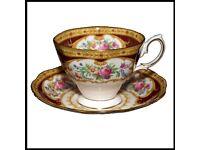 Vintage Royal Albert Bone China Tea Cup & Saucer Set Lady Hamilton Pattern