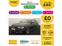 Black AUDI A4 SPORTBACK 1.8 2.0 TDI Diesel BLACK EDITION FROM £45 PER WEEK!