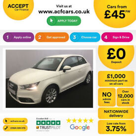WHITE AUDI A1 1.0 1.2 1.4 T FSI SE SPORT S LINE BLACK EDITION FROM £45 PER WEEK!