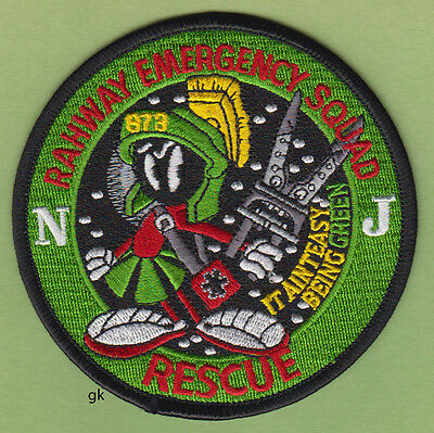 RAHWAY NEW JERSEY EMERGENCY FIRE RESCUE SQUAD SHOULDER PATCH