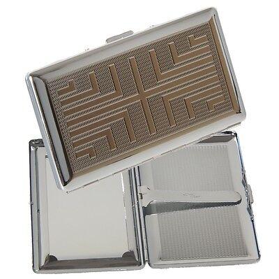 Zigarillo - Zigarettenetui chrom 120mm mit Spiegel