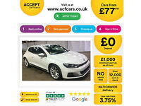 Volkswagen Scirocco GT FROM £77 PER WEEK!