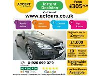 2014 BLACK MERCEDES E250 2.1 CDI AMG LINE 2DR CONVERTIBLE CAR FINANCE FR £305PCM