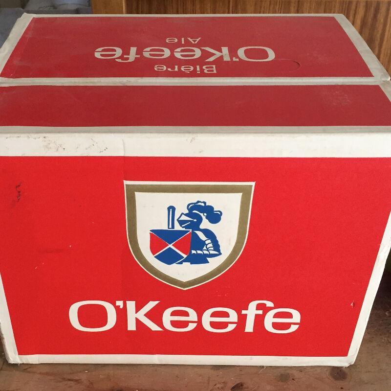 Beer Bottles 1967 O'keefe Beer Case And Ten Quart OBO