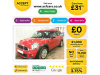 MINI COOPER 1.2 1.5 2.0 S D SEVEN ONE COUPE CHILLI CLUBMAN FROM £31 PER WEEK!