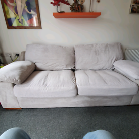 DFS Large 3 seater with cuddle chair. £99 Comfy.