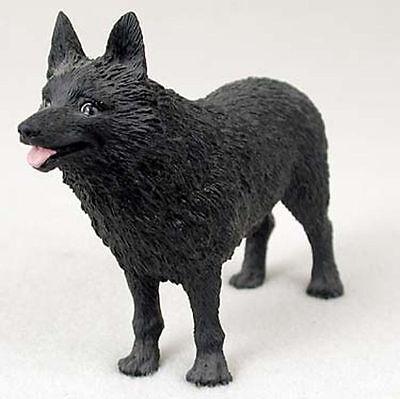 Schipperke Hand Painted Collectible Dog Figurine