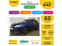 NISSAN QASHQAI 1.2 1.6 DIG-T N-CONNECTA 1.5 DCI N-VISION TEKNA FROM £45 PER WEEK