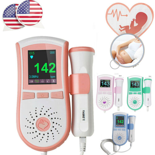 USA 3.0MHz Prenatal Fetal Doppler Baby Heartbeat Monitor Hospital LCD Hand-held