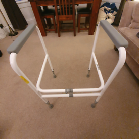 Adjustable Toilet Support Frame and Shower Seat