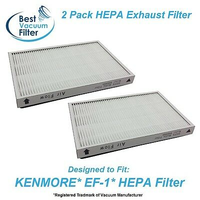 2 HEPA Exhaust Vacuum Filter for Kenmore EF-1 replace 20-53295, 20-86889, 40324