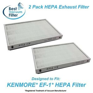 2 HEPA Exhaust Vacuum Filter for Kenmore EF-1 replace 20-53295, 20-86889, 40324