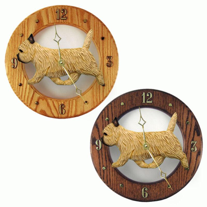Cairn Terrier Wood Clock Wheaten