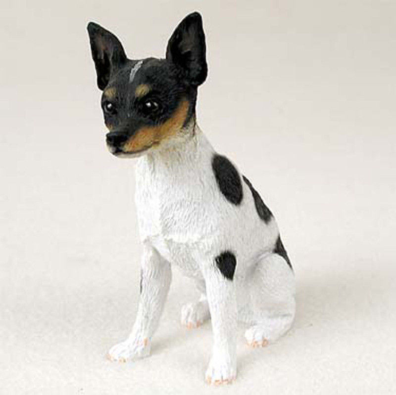 Rat Terrier Figurine Hand Painted Collectible Statue