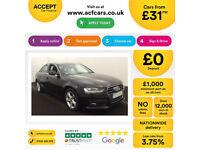 Black AUDI A4 SALOON 1.8 2.0 TDI Diesel SPORTS LINE FROM £31 PER WEEK!