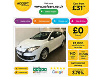 RENAULT MEGANE 1.5 DCI DYNAMIQUE S TOM TOM 1.6 EXPRESSION+ GT FROM £31 PER WEEK!