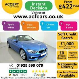 image for 2015 BLUE BMW 435D 3.0 XDRIVE M SPORT 2DR CONVERTIBLE CAR FINANCE FR £422 PCM