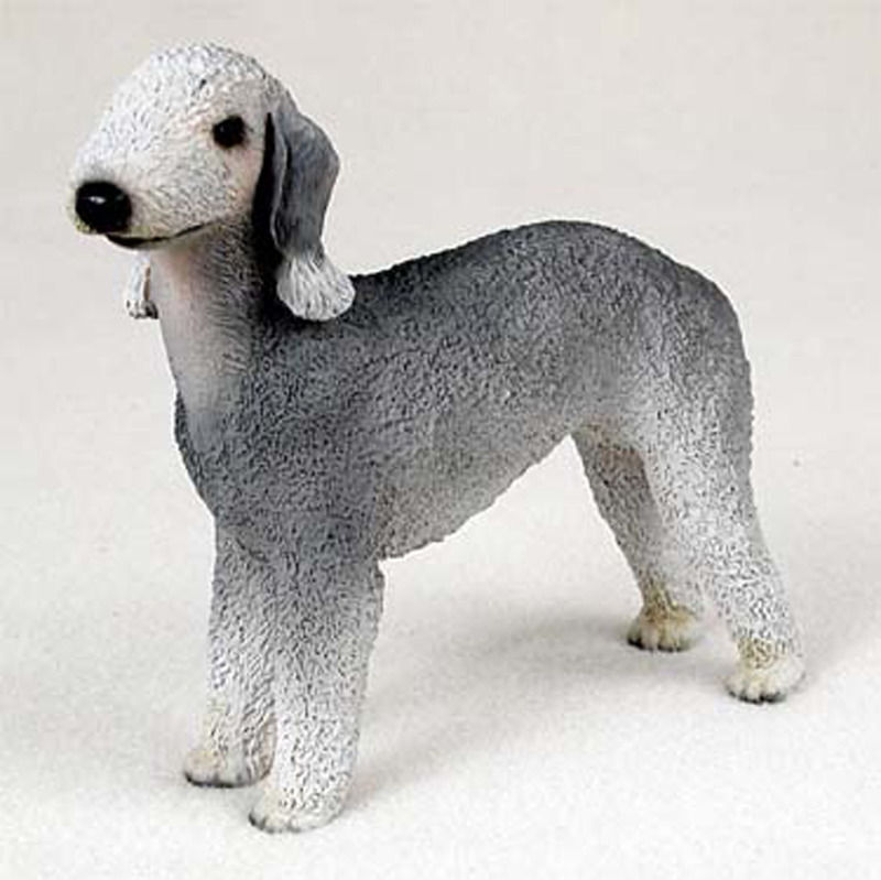 Bedlington Terrier Figurine Hand Painted Collectible Statue