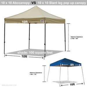 !0 x10 fold up canopy