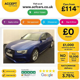 Blue AUDI A5 SALOON 3.0 TDI Diesel BLACK EDITION QUATTRO FROM £114 PER WEEK!