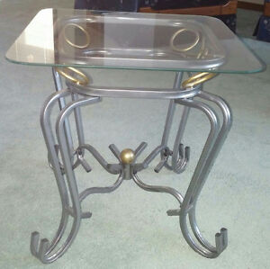 Glass Coffee Table and 2 Matching Side Tables London Ontario image 3