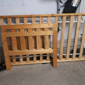 Bed frame all wood solid