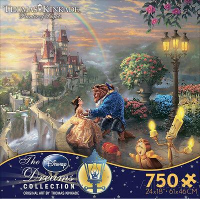 Thomas Kinkade Disney Dreams - Beauty and the Beast 750 Piece … Jigsaw Puzzle