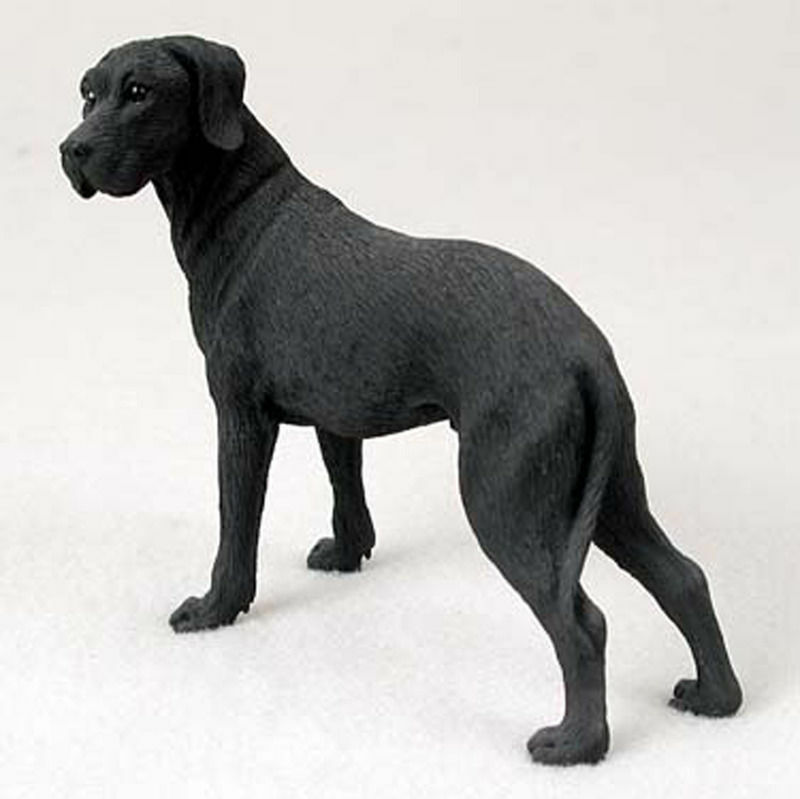 Great Dane Figurine Hand Painted Collectible Statue Black Uncropped