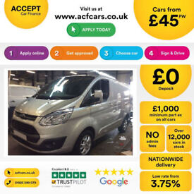 Ford Transit Custom FROM £45 PER WEEK!