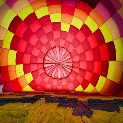 Colorful Hot Air Balloon Interior 8x8 Backdrop Prop Background Photo Photography - Hot Air Balloon Prop