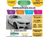 2018 WHITE BMW 218i 1.5 M SPORT PETROL MANUAL 2DR COUPE CAR FINANCE FR £241 PCM