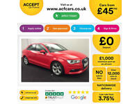 Red AUDI A3 SALOON 1.2 1.4 1.6 1.8 2.0 TDI Diesel SPORT FROM £45 PER WEEK!