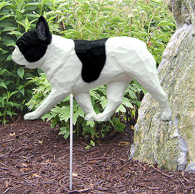 (French Bulldog Outdoor Garden Dog Sign Hand Painted Figure Pied)