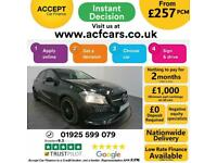 2017 BLACK MERCEDES A180 1.6 AMG LINE PETROL MANUAL CAR FINANCE FR £257 PCM