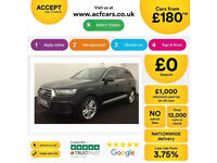 Black AUDI Q7 3.0 TDI Diesel QUATTRO S LINE FROM £185 PER WEEK!