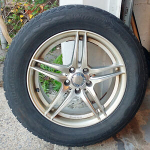 4 mags winter tires / winter tires 235-60-17, Bolt pattern 5 x 1