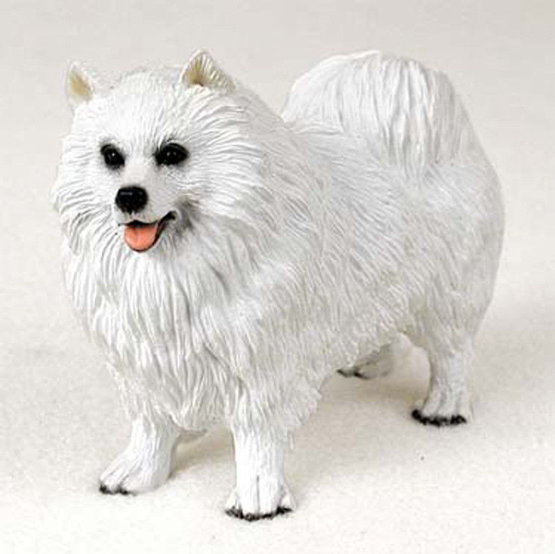 Samoyed Figurine Hand Painted Collectible Statue