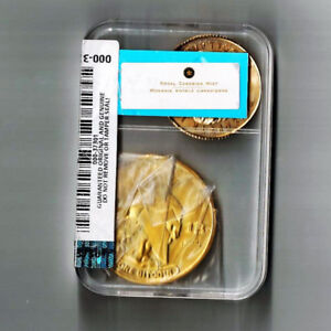 real physical titan bitcoin coin in plastic case has 1 btc on it