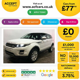 LAND ROVER R/R EVOQUE 2.0 TD4 SE TECH HSE DYNAMIC 4WD LUX 2WD FROM £77 PER WEEK!