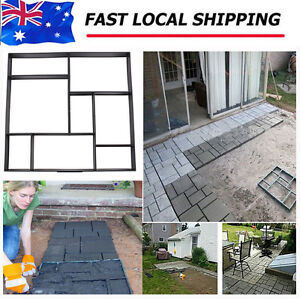 DIY Driveway Walk Maker Paving Patio Concrete Slabs Brick Path Maker Mould AU