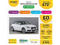 WHITE AUDI A1 1.0 1.2 1.4 T FSI SPORTBACK S LINE BLACK EDITION FROM £72 PER WEEK