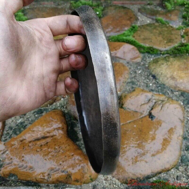 """8.6"""" Tibetan Buddhist Ritual Taoism Ritual Gong BassGong Bell Bronze #1526"""