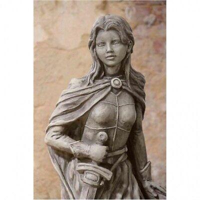 Jungfrau von Orléans, Jeanne d'Arc FIGUR aus STEINGUSS FROSTFEST GARTEN V-114525