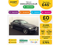 Black BMW 120d 2.0 Sport Plus Edition Convertible 2013 FROM £45 PER WEEK!