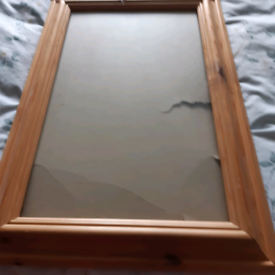 frame wood with glass. glass and frame good condition
